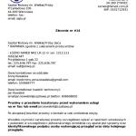 Przykładowe zlecenie do kontrahenta wysłane automatycznie mailem